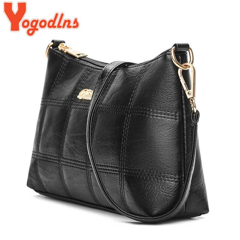 Yogodlns 2020 الموضة منقوشة حقيبة كروسبودي للنساء الفاخرة عالية الجودة مركب حقائب بولي Leather الجلود سيدة حقيبة كتف صغيرة مجموعة