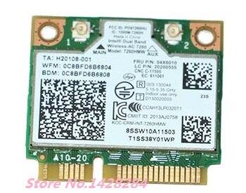 Nouveau pour Intel Double Bande Sans Fil-AC 7260 7260HMW 867 Mbps WiFi Bluetooth 4.0 Sans Fil Carte FRU: 04X6010 pour S410 E440 E540 S440