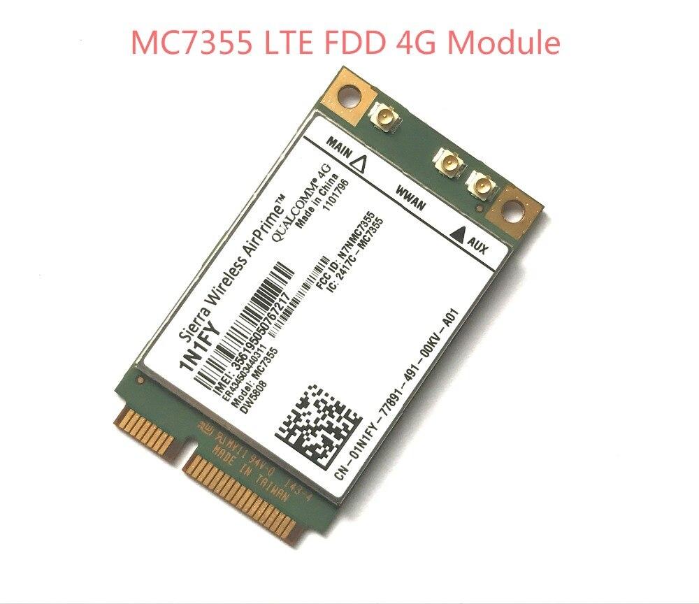 New MC7355 PCIe LTE / HSPA + GPS 100Mbps Card 4G Module for 1N1FY DW5808 Sierra Dell 1900/2100/850/700 (B17)/700 it4211 lte ev do hspa mobile broadband wwan module for hp elitebook 810 820 840 850 zbook 14 15 17 series sps 793116 001