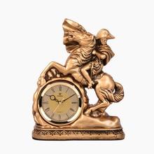 POWER European Style Napoleon Modeling Desk Clock Silent Stopwatch Table Clock Quartz Movement Gold Bracket Clocks Masa Saati