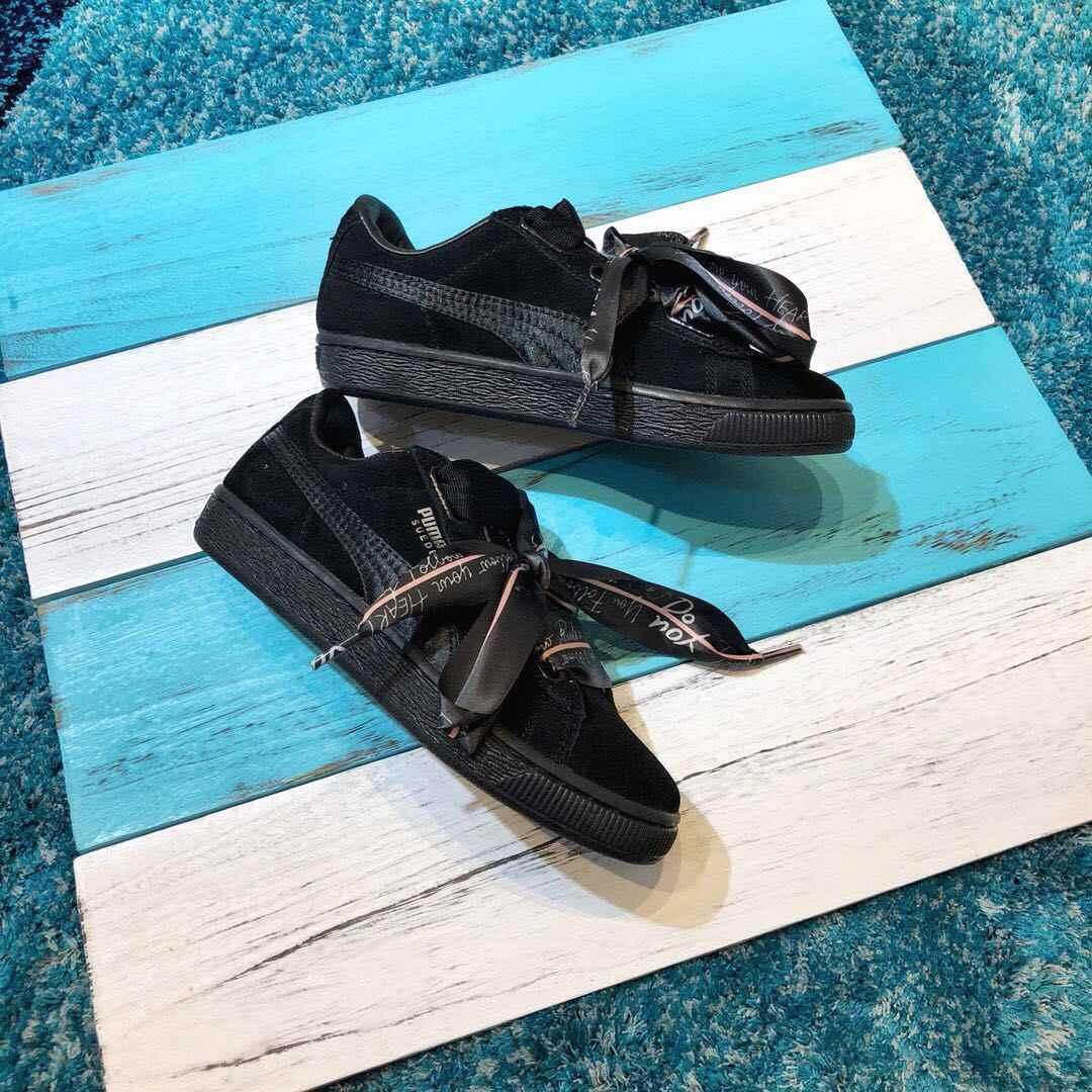 02515297752 Original PUMA Suede Heart Celebrate Women s Sneakers Bow Badminton Shoes  Size35.5-40