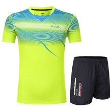 Free Print Qucik dry Badminton sports clothes Women/Men , table tennis clothes , Tennis suit ,  badminton wear sets  3871