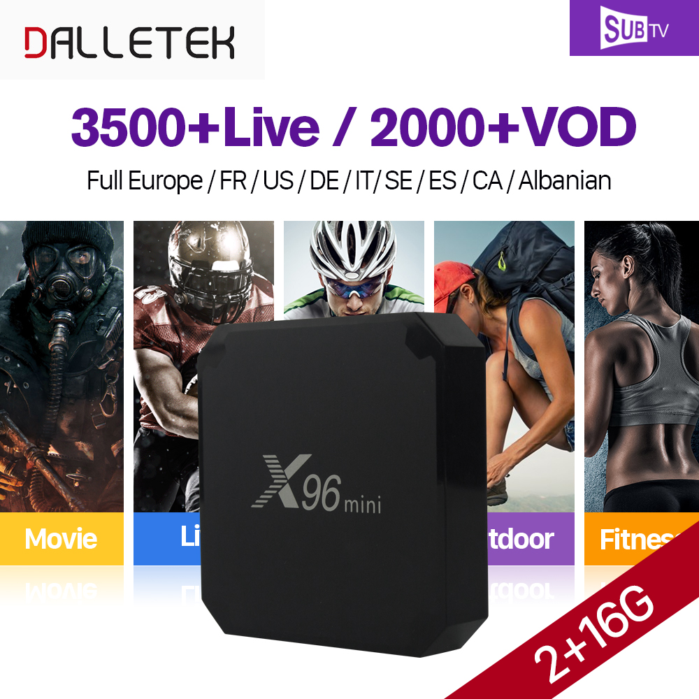 X96 mini Full HD French IPTV BOX Android 7.1 2G 16G with SUBTV IPTV French Arabic Live Sports IPTV Subscription VOD Movies