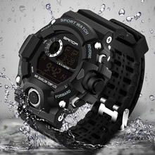 New fashion men's sports watch LED electronic digital watch 30bar diving swim outdoor military watch Relogio Masculino