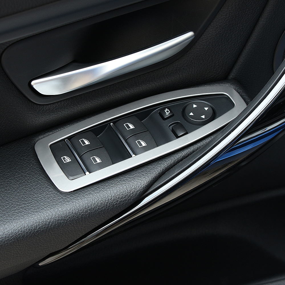 Car Styling, Stainless Steel Door Handle Button Trim Car