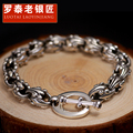 Thai silver 925 silver men's bracelet The boy hand catenary tide restoring ancient ways male act the role ofing is tasted punk