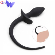 Silicone Tail Dog Anal Plug Toys For Adults Slave Women Men Gay Sex Games G-spot Butt Bdsm Couple Hot Gir