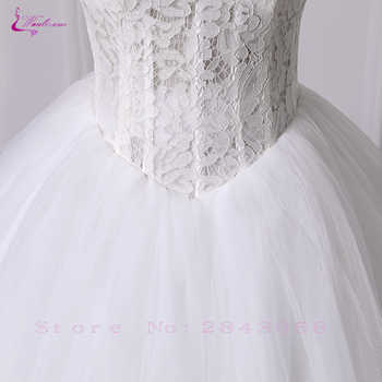 Waulizane Customize Made Ball Gown Wedding Dress Tulle Skirt Sweetheart Neckline Off The Shoulder Design