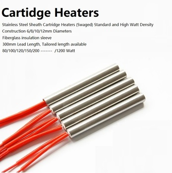 Stainless Steel Sheath Cartridge Heaters with Glassfiber Sleeves