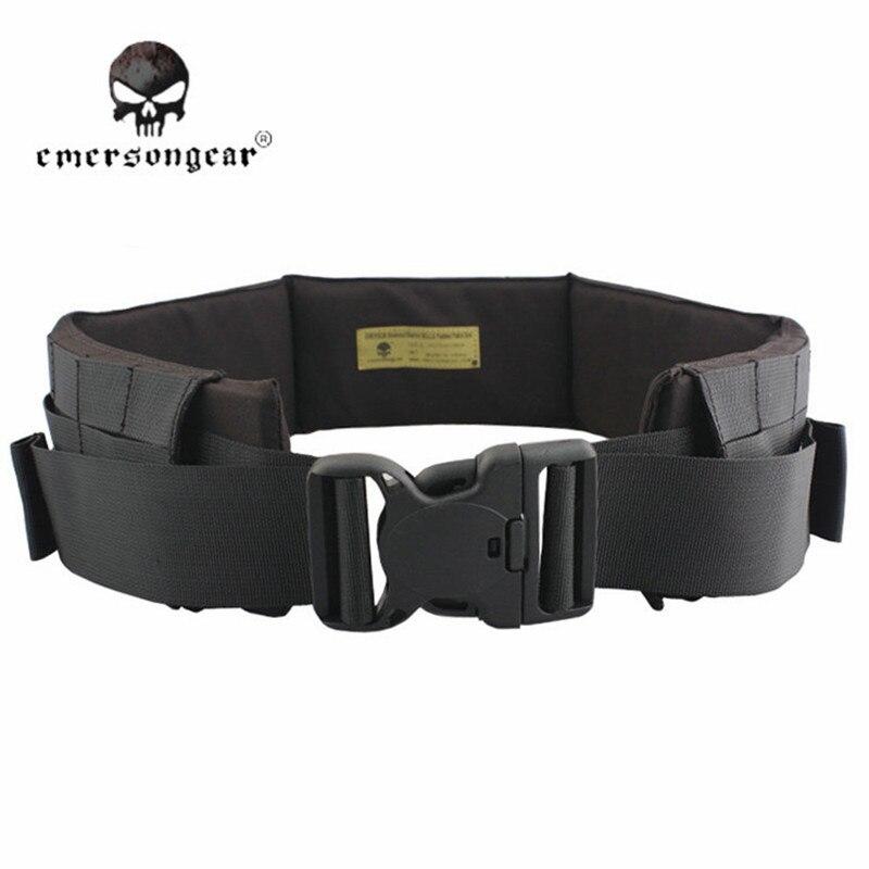ФОТО EmersonGear Men Nylon Molle Padded Waist Adjustable Camo Belt Airsoft Combat Military Tactical Belt Waist Band Support EM9154