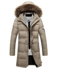 Hot Sell 2017 Thick Cotton Filling Feather Coat Coat Warm Winter Jacket M – 4 Xl Men's Winter Jacket