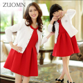 Family Matching Mother And Daughter Dresses Mom Red Dress Family Look Outfits Mommy and Me Clothes Girls Kids Clothing GH198