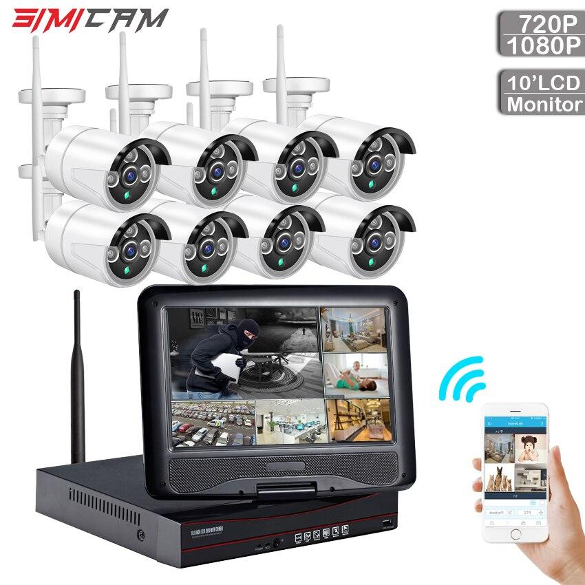 Home Wireless Security camera wireless cctv wifi security camera system 8ch 720P/1080P video surveillance ip camera Waterproof