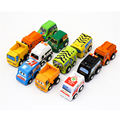 12Pcs Kids Mini Hot Wheels Pull Back Car Toys Lot Vehicle Sets Cheap Toys Plastic Engineering Vehicle Dinky Toys Model Gift
