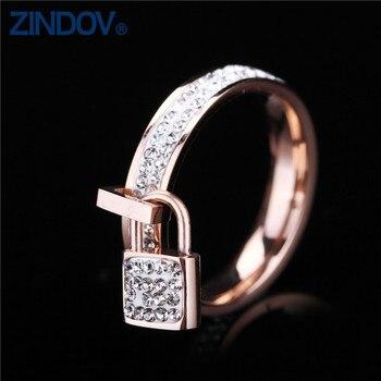 2ccb8227880d Acero inoxidable mujeres anillos oro plata Rosa oro colores famosa marca  traje joyería única chica mujer dedo anillos para las mujeres