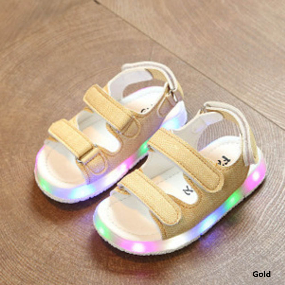 Male Female Child Sandals Boys Girls Sport Sandals Light Led Slip-resistant Children Baby Sport Shoes Kids Beach Leather Sandals