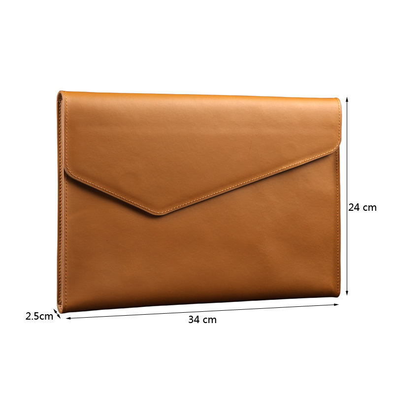 Image 3 - A4 Leather Folder Document Bag Document Paper Organizer Cow Leather File BagFile Folder   -