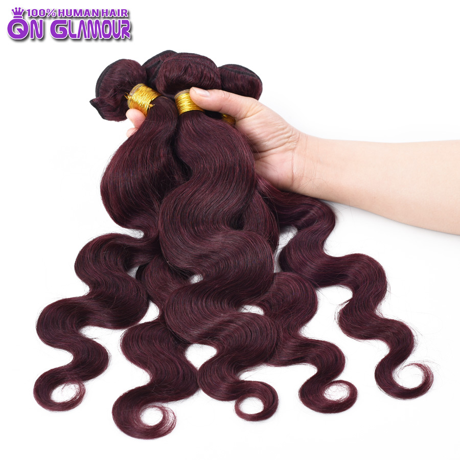 Top Rated Red Human Hair Extensions Luxury Indian Virgin Hair Body