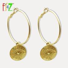 Женские винтажные серьги кольца fj4z Новые Модные Винтажные
