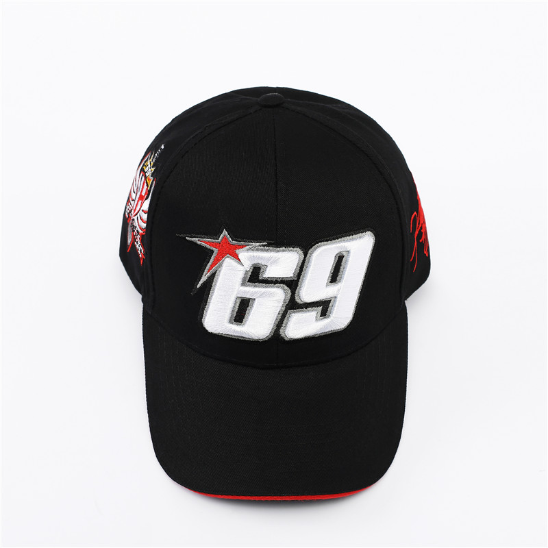 NEW Black Red Sport   Cap   Car Motocycle Racing hat MOTO GP Nick Heidfeld 69   Baseball     Cap   Hats Men Gorra Racing