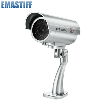 Free Shipping Fake Dummy Camera Bullet Waterproof Outdoor Indoor Security CCTV Surveillance Flashing Red LED - discount item  15% OFF Security Alarm