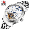 BINKADA Brand Men's Moon Phase Automatic Mechanical Watches Men Dive Full steel Watch Casual Business Wristwatches reloj hombre