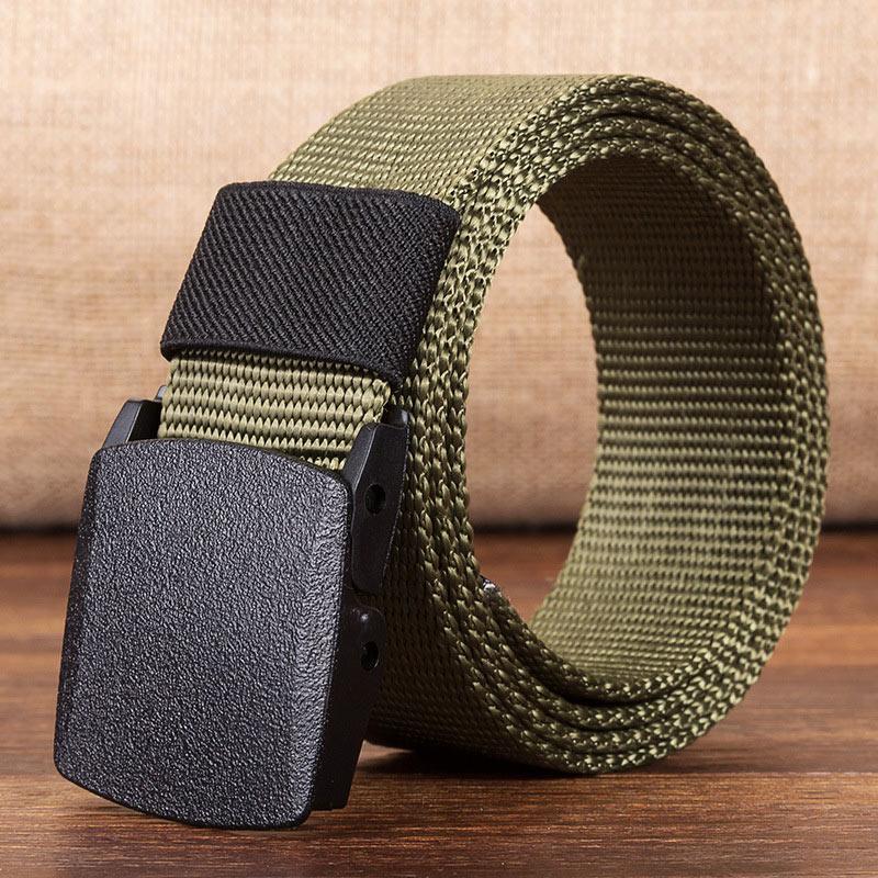 Военный мужской ремень, армейские ремни, регулируемый ремень для мужчин, для улицы, для путешествий, тактический поясной ремень с пластиковой пряжкой для брюк 120 см - Цвет: Army-green