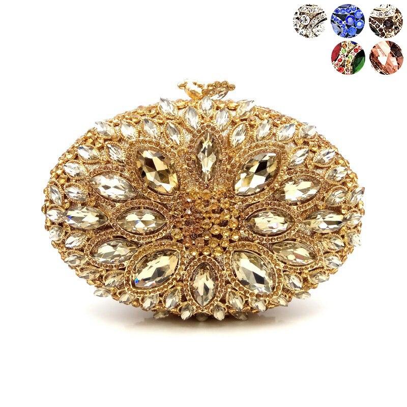 Elegant women evening party handbag diamonds luxury wallet clutches ladies designer crystal purses bridal wedding party