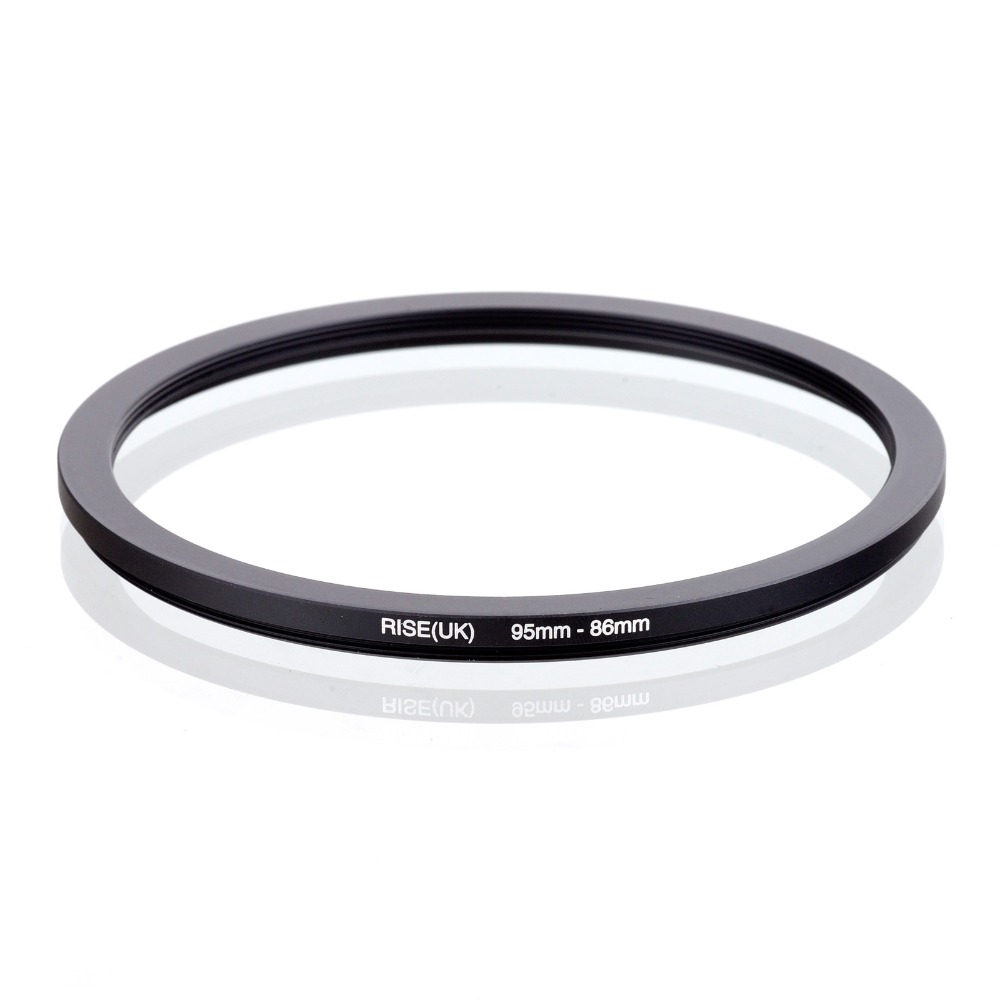 RISE(UK) 95mm-86mm 95-86mm 95 To 86 Step Down Ring Filter Adapter Black
