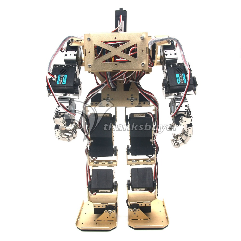 где купить  17DOF Biped Robot Humanoid Anthropomorphic Combat Battle Robot Height 38cm for DIY Robotics Assembled  дешево
