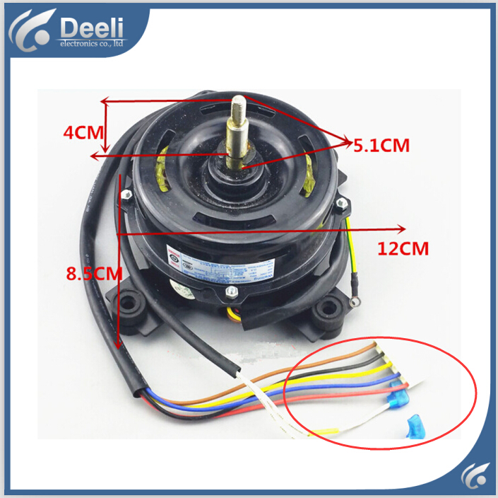 UPS / EMS / DHL 95% new good working for Air conditioner inner machine motor fan YDK50-8G-3 7 line