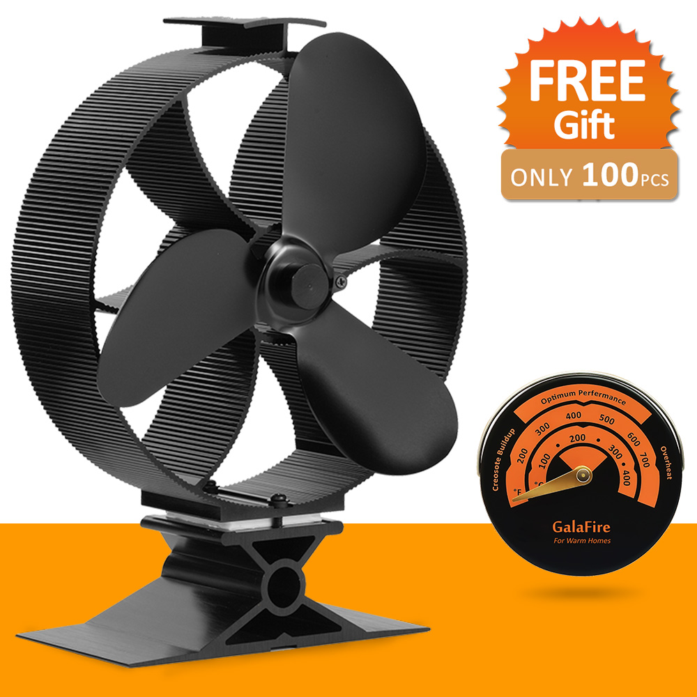 цены Large Airflow 33% Fuel Cost Saving Heat Powered Stove Fan Ecofan Wood Stove Fan