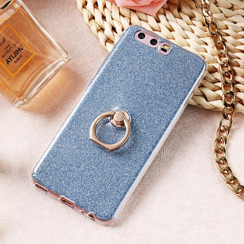 Uppbo Bling Shining Glitter Silicone Case For Huawei Honor 9 Case STF-L09 STF-AL00 STF-AL10 STF-TL10 Cover Soft Bag Coque Fundas