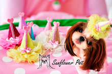 Pet explosion models sunflower fairy hat pet Dog headdress hairpin accessories 30pcs