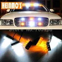 3x6 18 LED Car Truck LED Strobe Flash Warning Emergency Front Bumper Grille Driving Light Bar