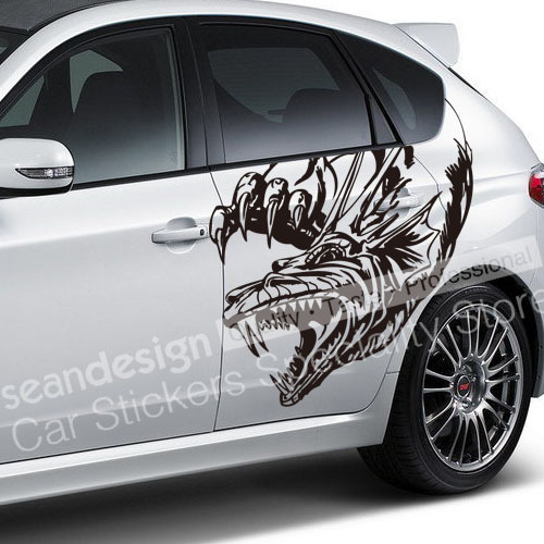 Cool totem dragon z07 auto car decal sticker pvc