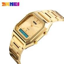 SKMEI Fashion Casual Watch mężczyźni cyfrowy podwójny czas sport Chronograph 3bar wodoodporne zegarki kwarcowe relogio masculino 1220