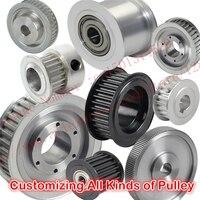 גלגלת תזמון באיכות גבוהה סגסוגת אלומיניום או פלדה ייצור התאמה אישית כל מיני סוגים של גלגלת חגורת תזמון גלגלת סינכרוני