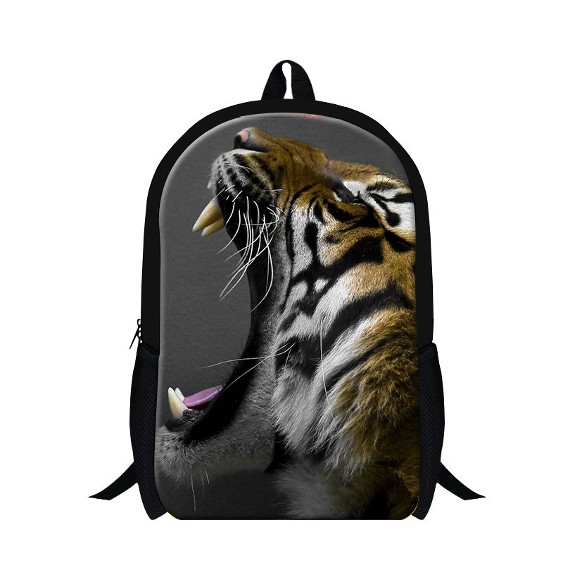 Cool Tiger backpack pattern for boys,new design lion 3D printing students bookbag school ...