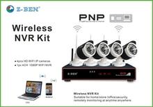 Z-BEN 4CH IR HD Wifi Seguridad Para el Hogar Sistema de Cámara IP Inalámbrica 720 P Wifi Cámaras de Vídeo NVR Vigilancia CCTV KIT de SISTEMA de CIRCUITO CERRADO de televisión Al Aire Libre