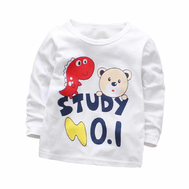 2018 bebés niñas Tops niños camisetas niños camiseta blusa chaquetas 100% algodón ropa de bebé niño C