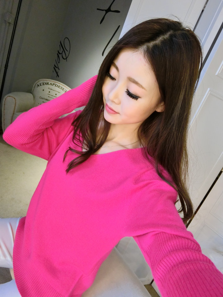 LOWEST-PRICE-Fashion-Women-s-Pullover-Sweater-Lady-V-neck-Batwing-Sleeve-Cashmere-Wool-Knitted-Solid (5)