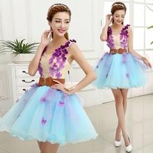 Dress-Gown Bridesmaid Sweat Princess Women New Short Girl 85cm Party-Ball Banquet Lady