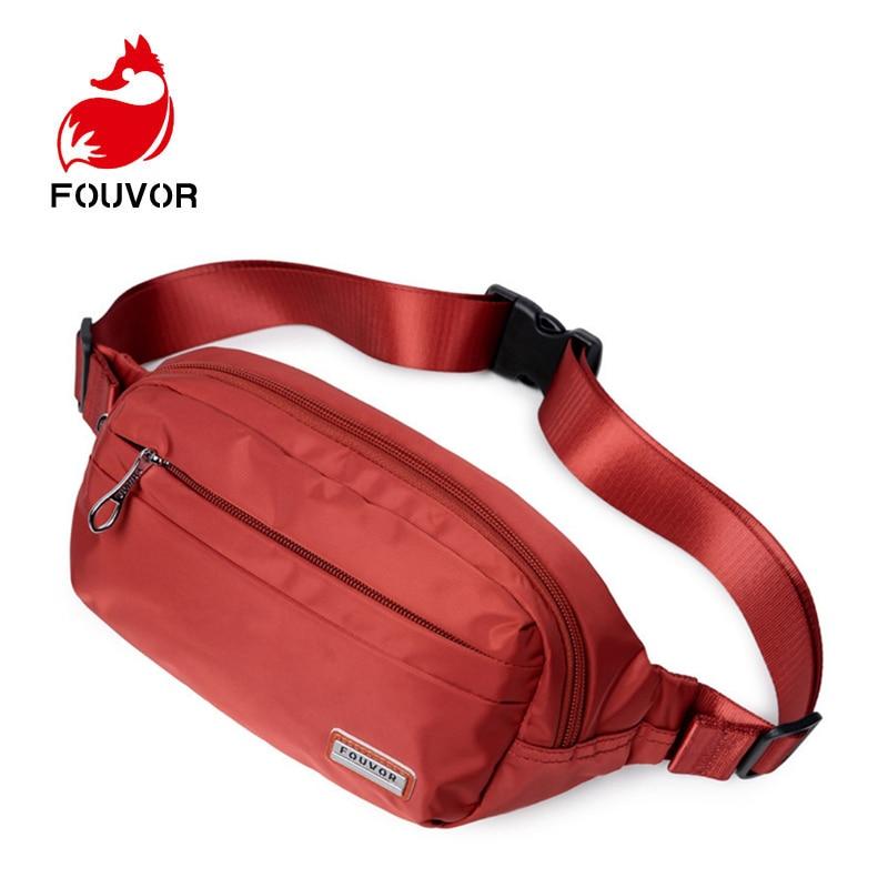 Fouvor Bags Women Casual Functional Fanny Bag Unisex Waist Bags Male Money Phone Belt Bag Waterproof Pouch Hip Zipper Belt Pack