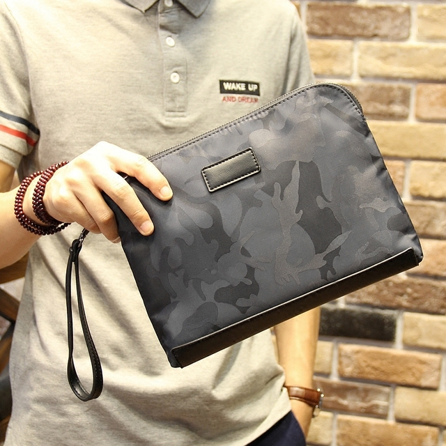 England Style Fashion Men S Clutch Bag Pu Leather Envelope Camouflage Handbag Whole High
