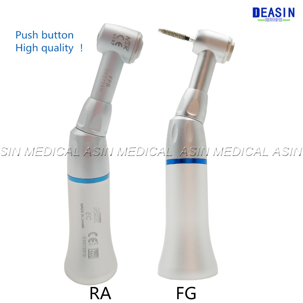 High quality Slow Speed Handpiece contra angle Handpieces Push Button E-Type dental Lab micromotor free shipping