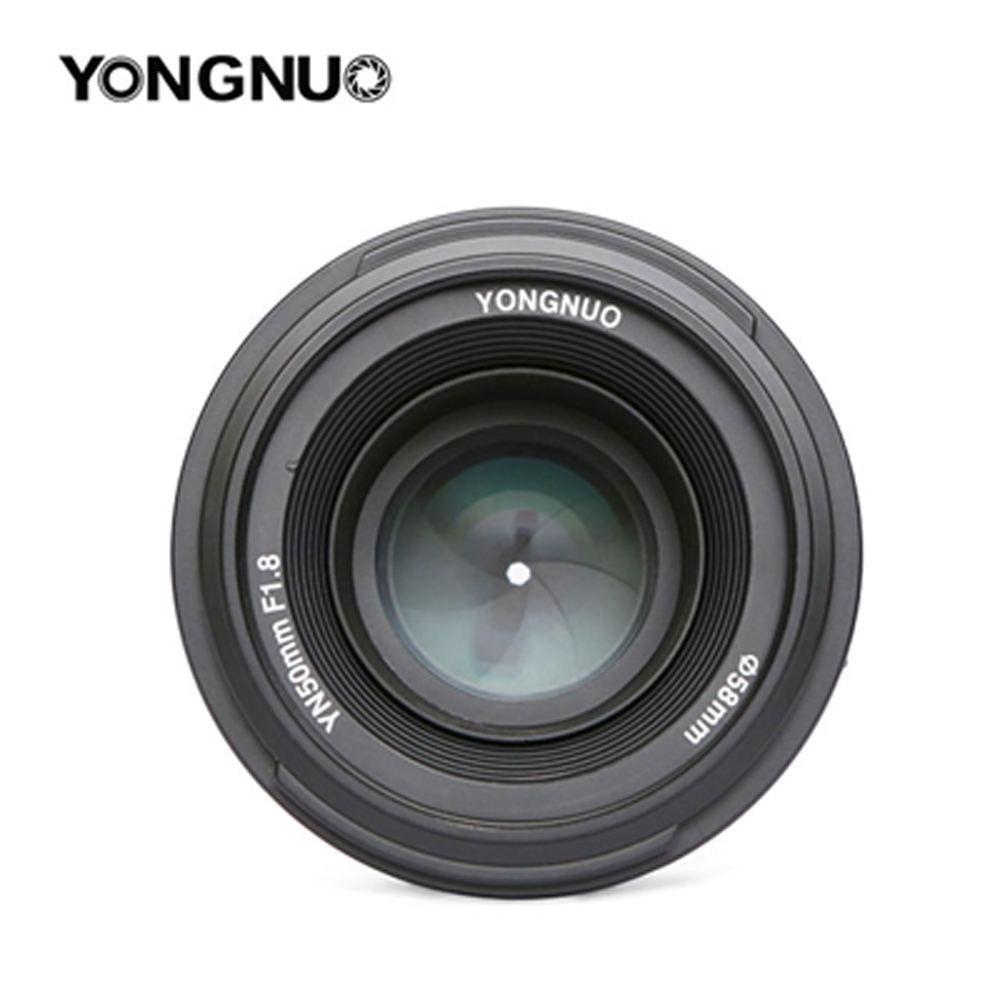 YONGNUO YN 50mm YN50mm F1.8 Lens Large Aperture AF/MF Auto Focus Fixed Lens for Canon EOS or Nikon DSLR Camera yongnuo yn 50mm lens fixed focus lens ef 50mm f 1 8 af mf lense large aperture auto focus lens for canon dslr camera pouch bag