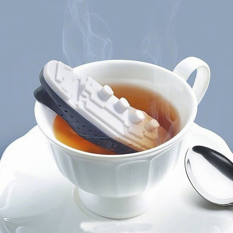Creative Silicone Titanic Tea Bag Filter Ship Shape Tea Filter  Seasoning Bag Kitchen Tools Unpackaged