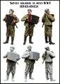 Масштабные Модели 1/35 Советский солдат в покое. 2МВ. (1943-1945) рисунок uncolor ВТОРОЙ МИРОВОЙ ВОЙНЫ Смола Модель Бесплатная Доставка