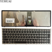New Russian/RU laptop keyboard for Lenovo IdeaPad Flex 15 Flex15 G500S G505S S500 S510 S510P Z510 Silver Grey frame with backlit